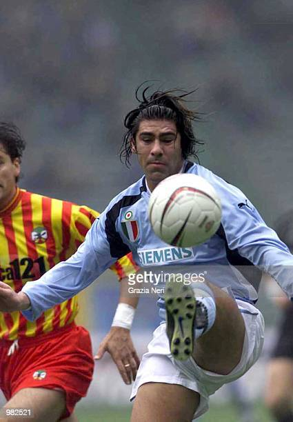 Marcelo Salas of Lazio in action during the SERIE A 17th Round League match between Lazio and Lecce played at the Olympic Stadium Rome Paolo Bruno /...