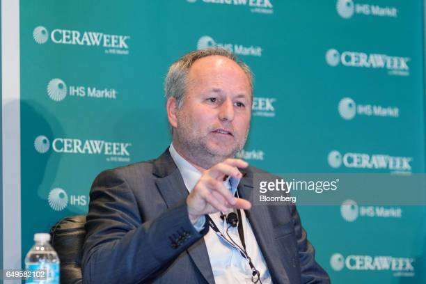 Marcelo Tokman Ramos chief executive officer of Empresa Nacional del Petroleo speaks during the 2017 CERAWeek by IHS Markit conference in Houston...
