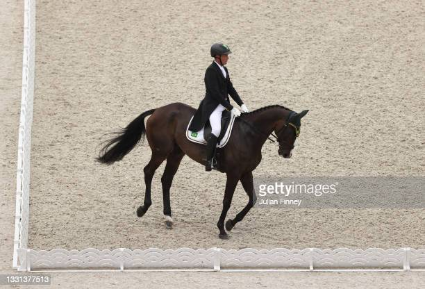 Marcelo Tosi of Team Brazil riding Glenfly competes in the Eventing Dressage Team and Individual Day 1 - Session 1 on day seven of the Tokyo 2020...