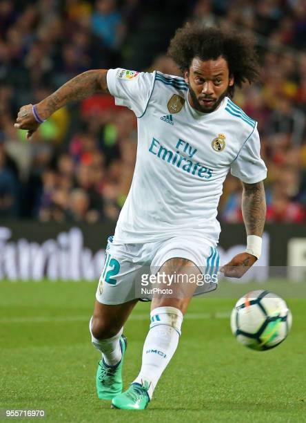 Marcelo Vieira during the match between FC Barcelona and Real Madrid CF played at the Camp Nou Stadium on 06th May 2018 in Barcelona Spain Photo Joan...