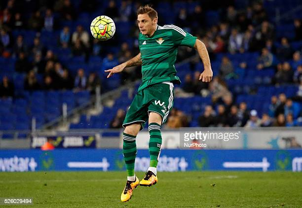 Joaquin during the match between RCD Espanyol and Real Betis Balompie corresponding to the week 28 played at the CornellaEl Prat stadium on march 03...