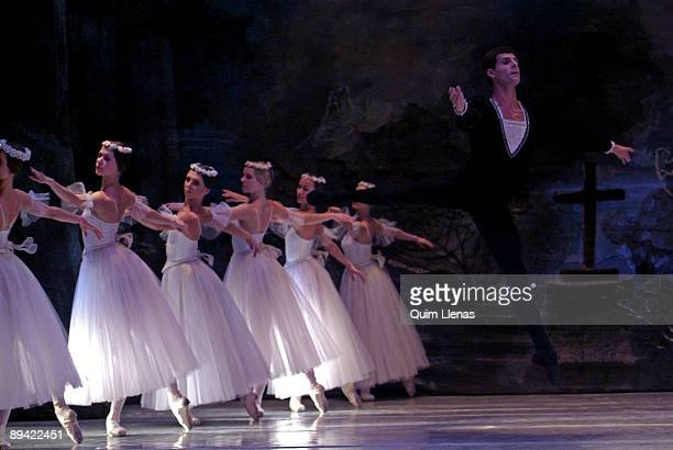 March 04, 2008. Gran Via Theater, Madrid, Spain. Dress rehearsal of the ballet Giselle, by the company Classical Ballet of Moscow, with direction of...
