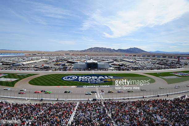 General view before the start of the race during the Sam's Town 300 NASCAR Nationwide Series race at Las Vegas Motor Speedway in Las Vegas NV