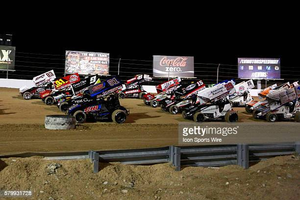 The World Of Outlaws Sprint Car FVP Outlaw Showdown at the Dirt Track at Las Vegas Motor Speedway, Las Vegas NV.