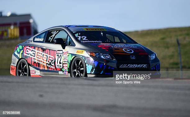 Emilee Tominovich driving a Honda Civic Si for Compass360 Racing during practice for the Pirelli World Challenge Grand Prix of Texas at the Circuit...