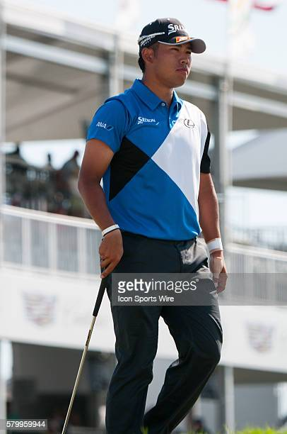 March 06 2015 PGA DORAL FL Hideki Matsuyama watches his shot on the ninth hole during the second round of the World Golf ChampionshipsCadillac...