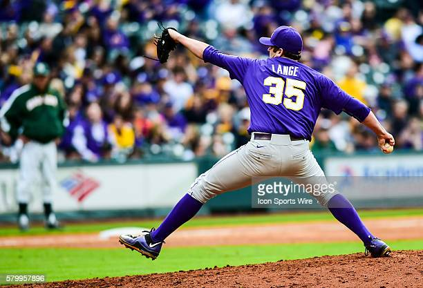 Alex Lange during the Houston College Classic with the LSU Tigers facing the Baylor Bears at Minute Maid Park in Houston TX
