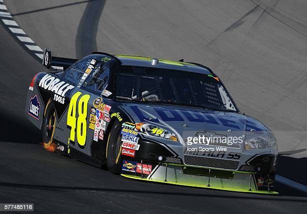 Jimmie Johnson Hendrick Motorsports Chevrolet Impala SS during the Shelby 427 Sprint Cup Series race at Las Vegas Motor Speedway in Las Vegas NV