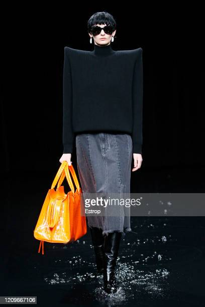 March 1: A model walks the runway during the Balenciaga as part of the Paris Fashion Week Womenswear Fall/Winter 2020/2021 on March 1, 2020 in Paris,...