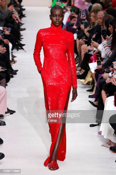 A model walks the runway during the Valentino as part of the Paris Fashion Week Womenswear Fall/Winter 2020/2021 on March 1 2020 in Paris France