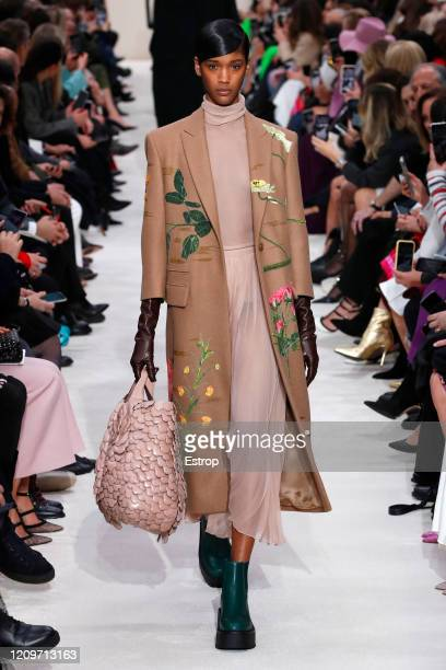March 1: A model walks the runway during the Valentino as part of the Paris Fashion Week Womenswear Fall/Winter 2020/2021 on March 1, 2020 in Paris,...