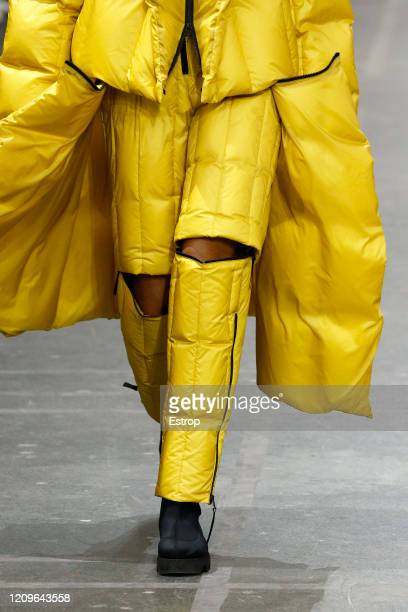 March 1: Clothing detail during the Issey Miyake as part of the Paris Fashion Week Womenswear Fall/Winter 2020/2021 on March 1, 2020 in Paris, France.