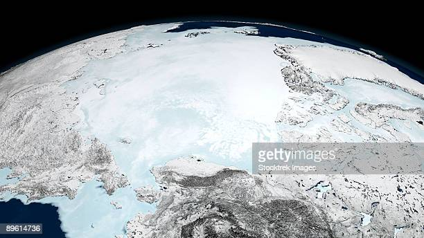 March 10, 2008 - Arctic sea ice when the sea ice reached the annual maximum extent of 15.21 million square kilometers (5.87 million square miles).