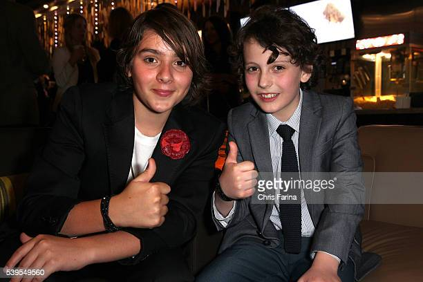 Adam GreavesNeal and Finn McLeod Ireland arrive for the LA Premiere of 'The Young Messiah' at the Cinemark Playa Vista in Los Angeles Ca Christopher...