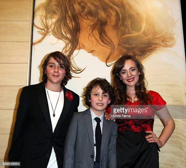 Finn McLeod Ireland Adam GreavesNeal and Sara Lazzaro arrive for the LA Premiere of 'The Young Messiah' at the Cinemark Playa Vista in Los Angeles Ca...