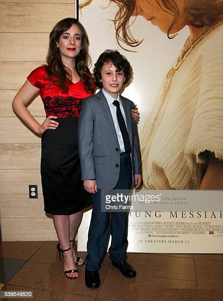 March 10 2016 Actress Sara Lazzaro and actor Adam GreavesNeal arrive for the LA Premiere of 'The Young Messiah' at the Cinemark Playa Vista in Los...