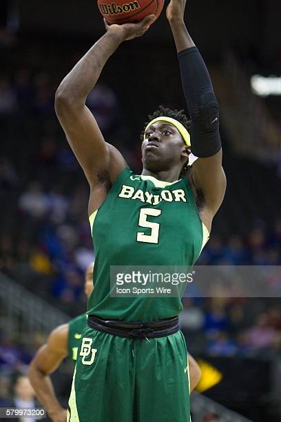 Baylor Bears forward Johnathan Motley during the NCAA Big 12 conference mens basketball tournament game between the Baylor Bears and the Texas...