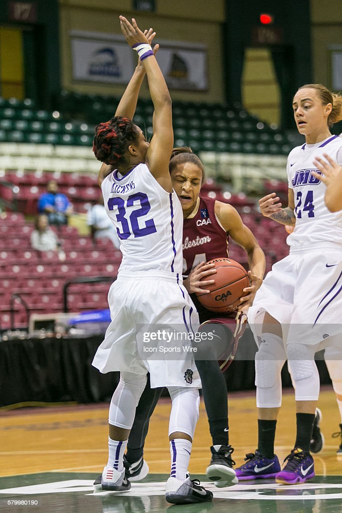 NCAA BASKETBALL: MAR 10 CAA Women's Championship - Charleston v James Madison : News Photo