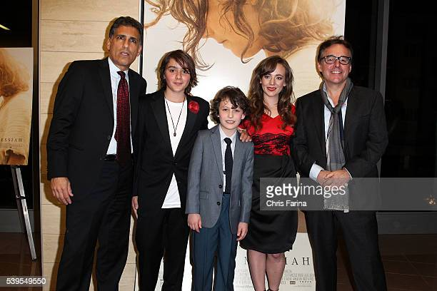 March 10 2016 Director Cyrus Nowrasteh actors Finn McLeod Ireland Adam GreavesNeal Sara Lazzaro and Producer Chris Columbus arrive for the LA...