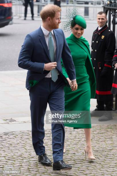 March 10, 2020 -- Prince Harry and his wife Meghan Markle arrive at Westminster Abbey to attend the annual Commonwealth Service at Westminster Abbey...