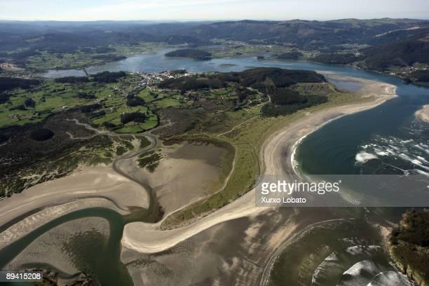 March 11 2007 Ortigueira Coruna Galicia Spain Ortigueira ria Morouzos beach and Cabalar
