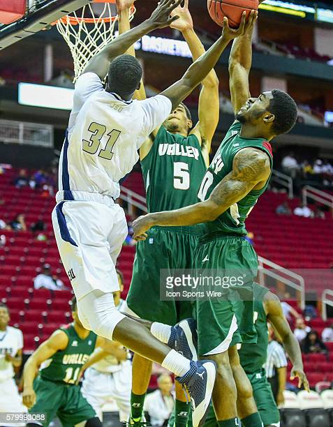 Jackson State Tigers guard Dontaveon Robinson is fouled enroute to first half layup during the 2016 SWAC Men's Basketball Tournament featuring the...
