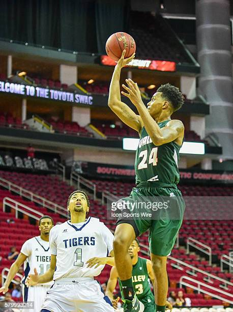 Mississippi Valley State Delta Devils guard Isaac Williams hits a floater during the 2016 SWAC Men's Basketball Tournament featuring the Mississippi...