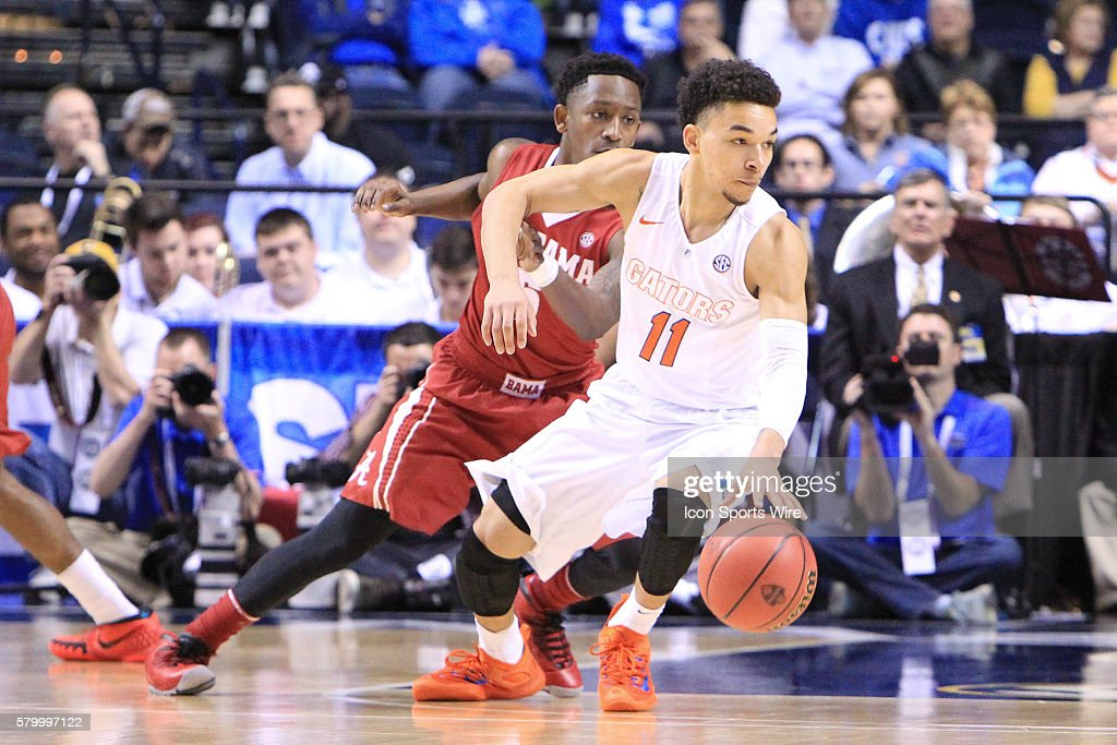 NCAA BASKETBALL: MAR 12 SEC Tournament Ð Florida v Alabama : News Photo