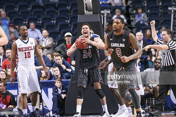 South Carolina Gamecocks forward Michael Carrera gets a rebound as Mississippi fights the clock to overcome a South Carolina lead late in the second...
