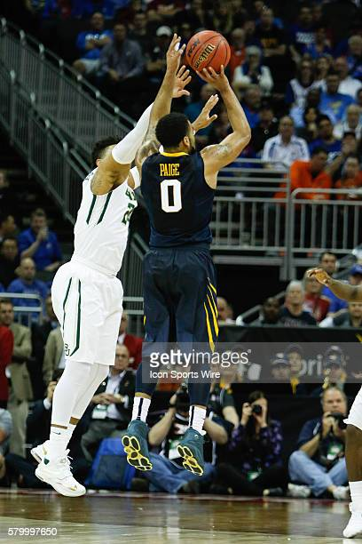 West Virginia guard Jaysean Paige puts up a shot during the first half of Thursday's Big 12 Tournament game at the Sprint Center Baylor defeated West...