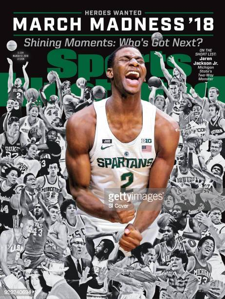 March 12 2018 Sports Illustrated via Getty Images Cover March Madness Preview Michigan State Jaren Jackson Jr during game vs Long Beach State at...
