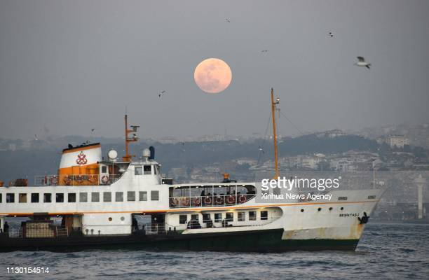 ISTANBUL March 12 2019 A vessel is seen in the Bosphorus Strait Istanbul Turkey on Feb 19 2019 The Turkish authorities imposed a record amount of...
