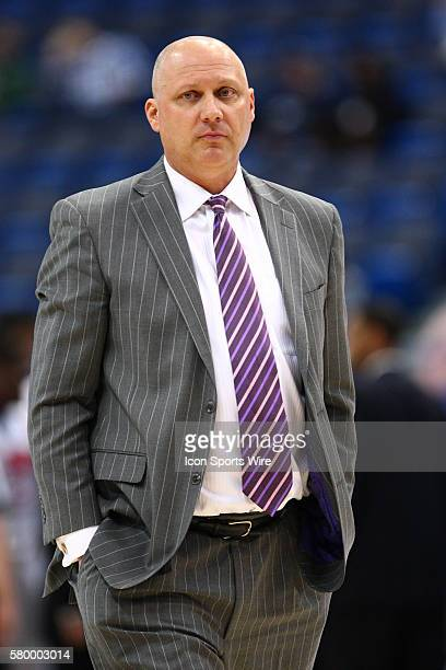 East Carolina's Head Coach Jeff Lebo during the American Athletic Conference men's championship quarter finals between the top seeded SMU Mustangs...
