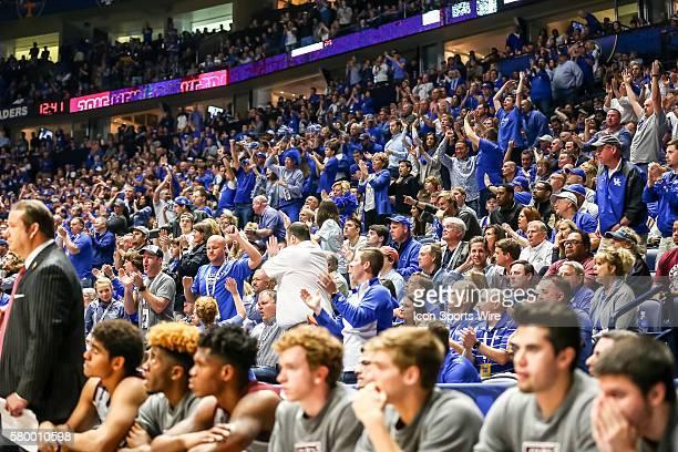 Kentucky Wildcats fans were on there feet during the 2016 SEC Basketball Championship Tournament Final game between Kentucky and Texas AM Kentucky...