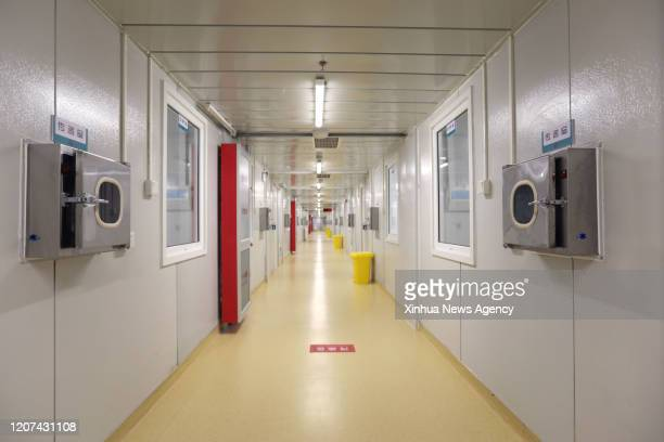 BEIJING March 13 2020 Photo taken on March 13 2020 shows the interior scene of the Xiaotangshan Hospital in Beijing capital of China Beijing on...