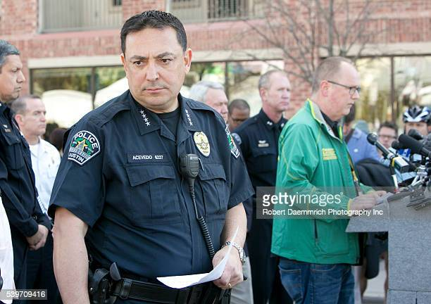 March 13th, 2014 Austin, Texas USA: APD Chief Art Acevedo gives updates during a press conference close to the Mohawk bar where hours earlier, a...