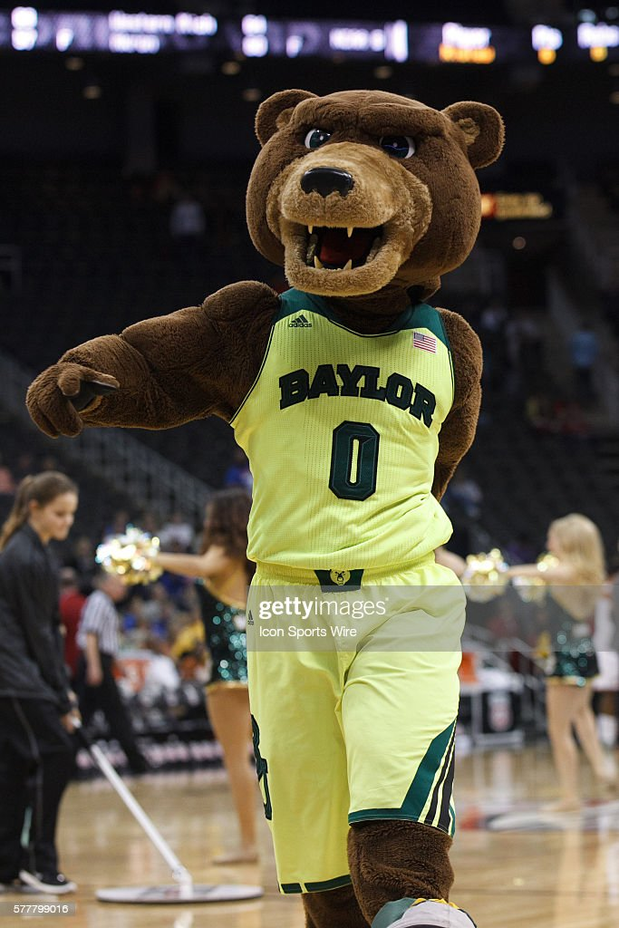 The Baylor Mascot Entertains The Crowd During The Semifinals Of The