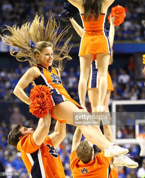 March 14 2015 Auburn Tigers cheerleaders in action during the 2015 SEC Men's Basketball Tournament semifinal game 1 between Georgia and Arkansas...