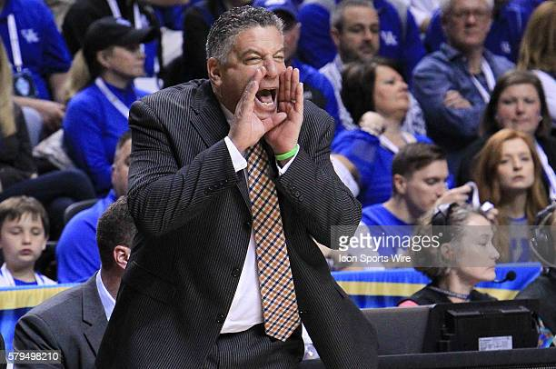 Auburn Tigers head coach Bruce Pearl during the Kentucky Wildcats versus the Auburn Tigers semifinal game in the 2015 SEC Men's Basketball Tournament...