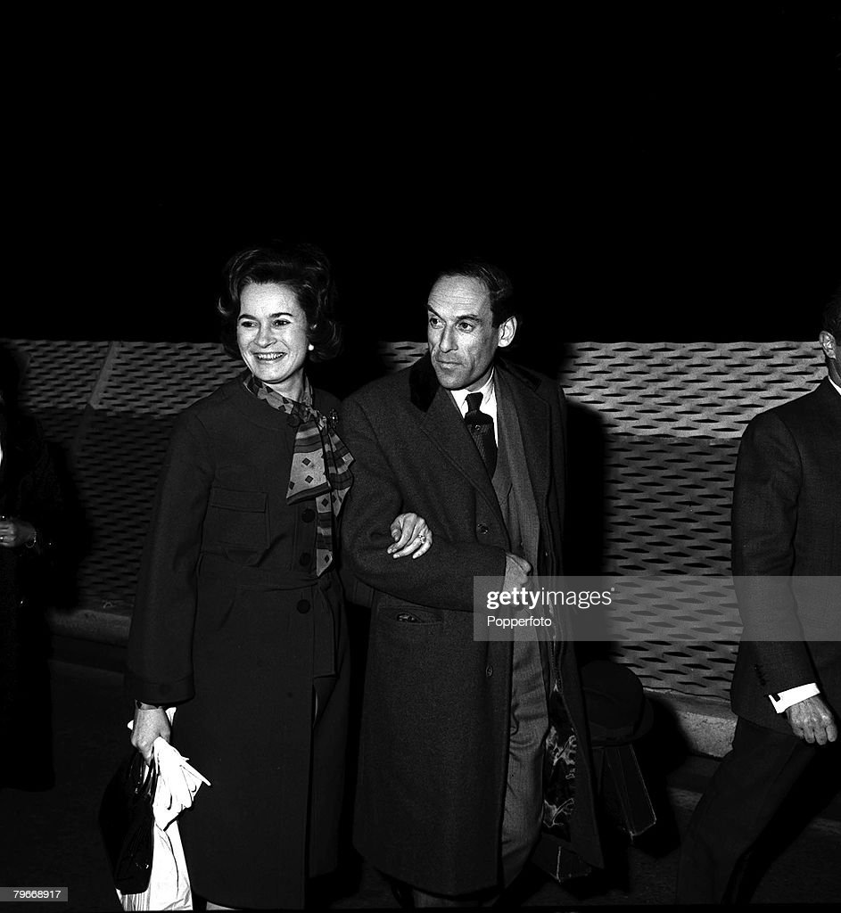 March 14th, 1973, Liberal leader Jeremy Thorpe pictured in Nice, South of France with his wife Marion soon after they had married : News Photo