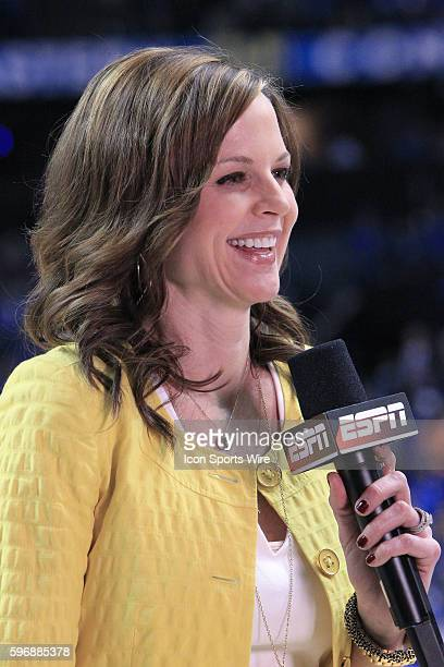 ESPN sports reporter Shannon Spake during the Arkansas Razorbacks versus the Kentucky Wildcats championship game in the 2015 SEC Men's Basketball...