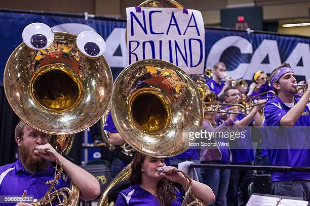 James Madison band playing during the CAA Women's championship game between James Madison Dukes vs Hofstra Pride at Showplace Arena in Upper Marlboro...