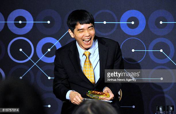SEOUL March 15 2016 South Korean professional Go player Lee Sedol attends a press conference after finishing the final match of the Google DeepMind...