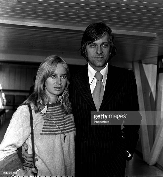 March 15th Film, Singer, British actress Susan George pictured with American singer Jack Jones in London