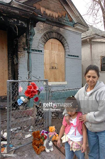 DENVER COLORADO March 16 2006<cq>Scene of a fire at 3777 Franklin Street in the Cole neighborhood Thursday afternoon Neighbors and mourners have left...