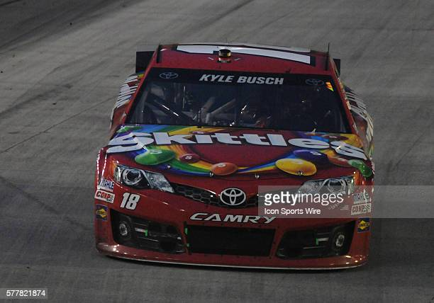 Kyle Busch Joe Gibbs Racing Skittles Toyota Camry during the Food City 500 Carl Edwards Roush Fenway Racing Kelloggs/Frosted Flakes Ford Fusion won...