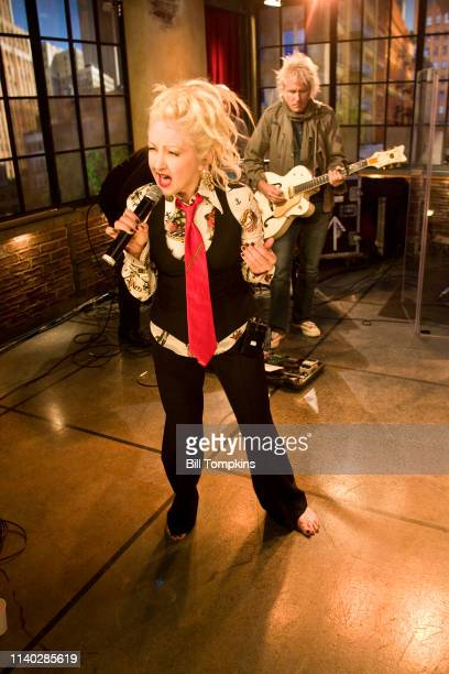 Cyndi Lauper appears on the TV show PRIVATE SESSIONS on June 1 2008 in New York City
