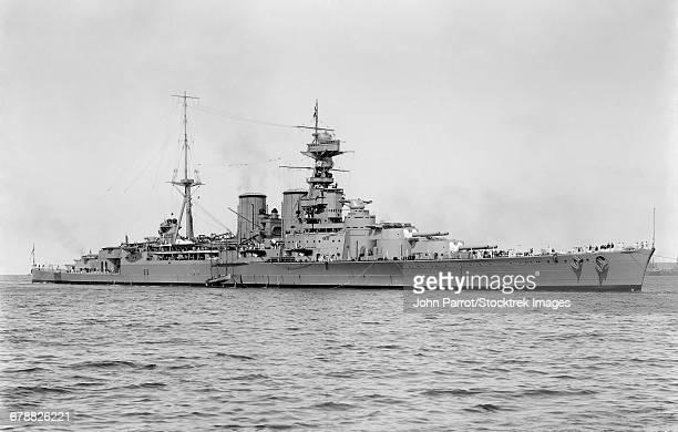 March 17, 1924 - HMS Hood, the last battlecruiser built for the Royal Navy.