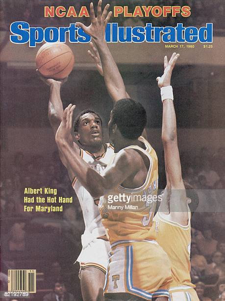 College Basketball NCAA Playoffs Maryland Albert King in action taking shot vs Tennessee Reggie Johnson Greensboro NC 3/8/1980 CREDIT Manny Millan