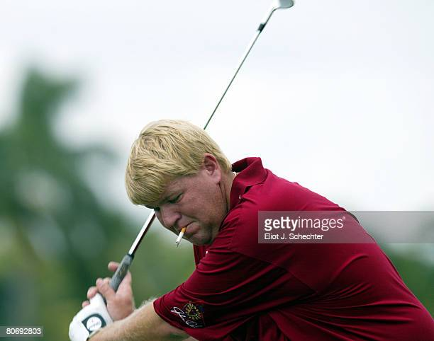 MIAMI March 17 2003 Pro Golfer John Daly during the Fairway to Heaven Celebrity Golf Tournament at Doral Country Club and Spa in Miami Florida